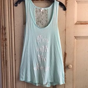 "PJ Salvage ""I'm with the Bride"" tank"